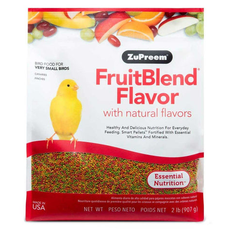 ZuPreem FruitBlend Very Small Bird Pellet Daily Nutrition - Exotic Wings and Pet Things