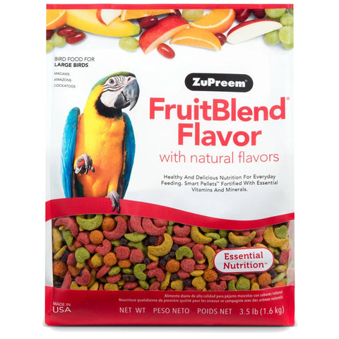ZuPreem FruitBlend Large Bird Pellet Daily Nutrition - Exotic Wings and Pet Things