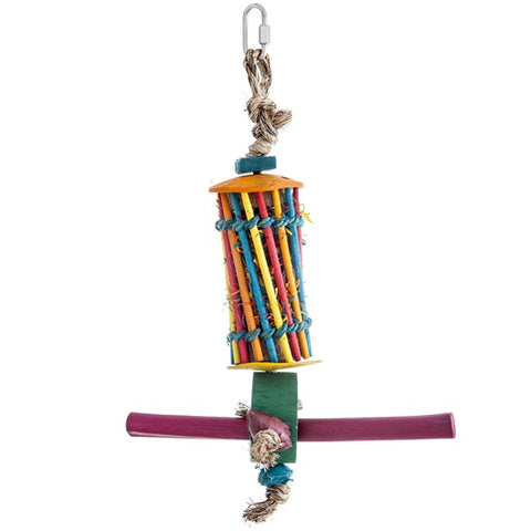 HARI Rustic Treasures Bird Toy Chopstick & Perch Foraging Tube - Small / Large - Exotic Wings and Pet Things