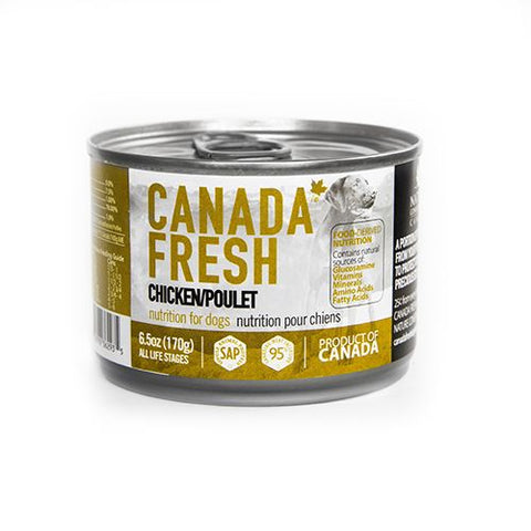 Canadian Fresh Chicken Canned Dog Food 6.5 oz. - Exotic Wings and Pet Things