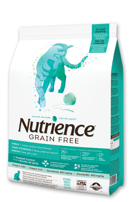 Nutrience Grain Free Turkey, Chicken & Herring Indoor Cat Food Duck Formula 11 lbs