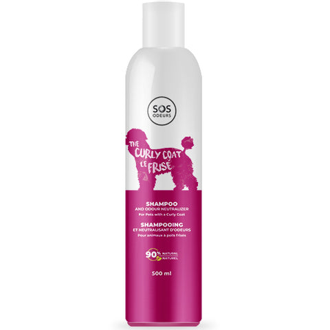 SOS Odours The Curly Coat Shampoo and Odour Neutralizer for Dog with a Curly Coat 500ml - Exotic Wings and Pet Things