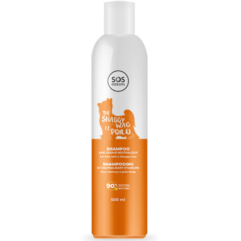 SOS Odours The Shaggy Wag Shampoo and Odour Neutralizer for Dog with a Shaggy Coat 500ml - Exotic Wings and Pet Things