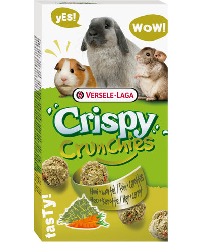 Versele-Laga Crispy Crunchies Hay & Carrot Biscuit - Exotic Wings and Pet Things