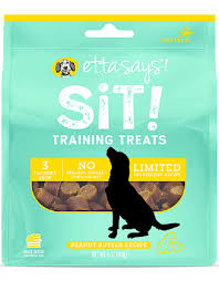 Etta Says! Sit Training Peanut Butter Treat 6 oz - Exotic Wings and Pet Things