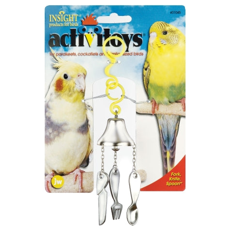 JW ActiviToys Fork, Knife, Spoon - Exotic Wings and Pet Things