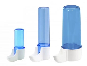 008 - Bird Blue Tube Drinker for Finch, Canary and Small Hook Bills - Exotic Wings and Pet Things