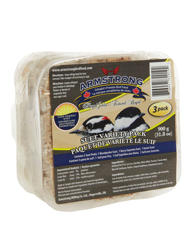 Armstrong Royal Jubilee Variety Suet 3 Pack - Exotic Wings and Pet Things