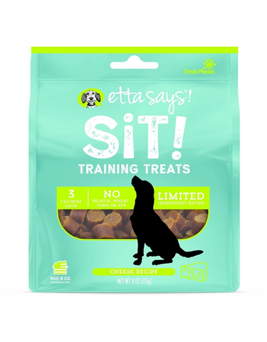 Etta Says! Sit Training Cheese Treat 6 oz - Exotic Wings and Pet Things