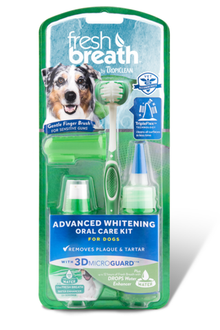 TropiClean Fresh Breath Advanced Whitening Oral Care Kit - Exotic Wings and Pet Things