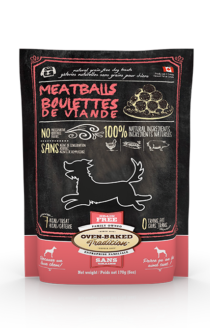 Oven Baked Traditions Grain Free Meatball Treat 6 oz