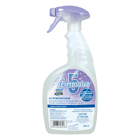 SOS Odours Germosolve 5 All-in-one Disinfectant Cleaner –Odourless 946ml - Exotic Wings and Pet Things