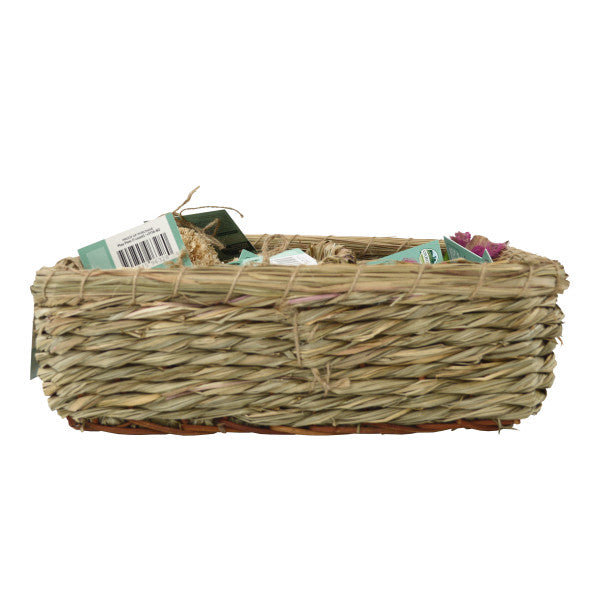 Oxbow Enriched Life Play Pom & Rainbow Knot Stick Basket