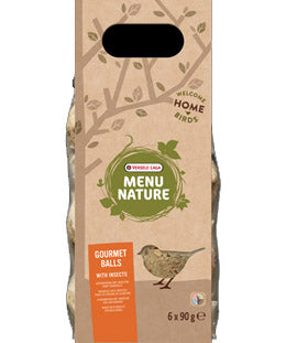 Versele-Laga Menu Nature Gourmet Insect Suet Balls 6 Pack - Exotic Wings and Pet Things