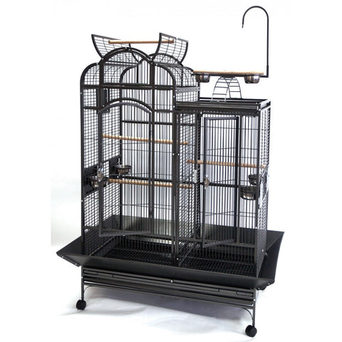 Beaks! Playtop Combo Cage with Divider & Stand - Exotic Wings and Pet Things