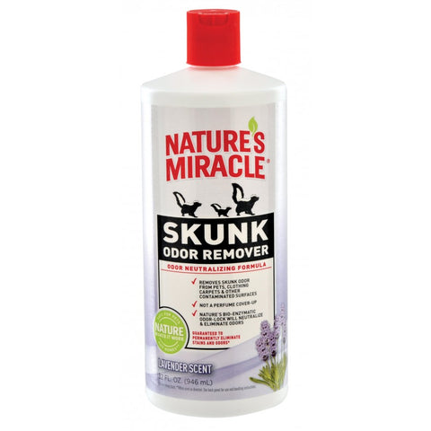 Nature's Miracle Skunk Odor Remover Lavender Scented 32 oz - Exotic Wings and Pet Things