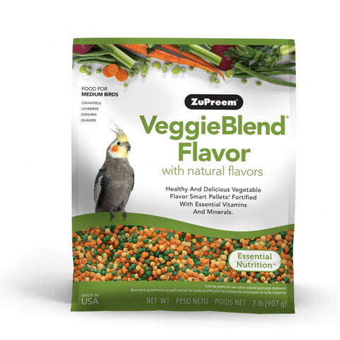 Zupreem VeggieBlend Medium Bird Pellet Daily Nutrition - Exotic Wings and Pet Things