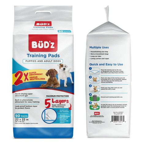Bud'z Puppy & Adult Training Pads - Exotic Wings and Pet Things