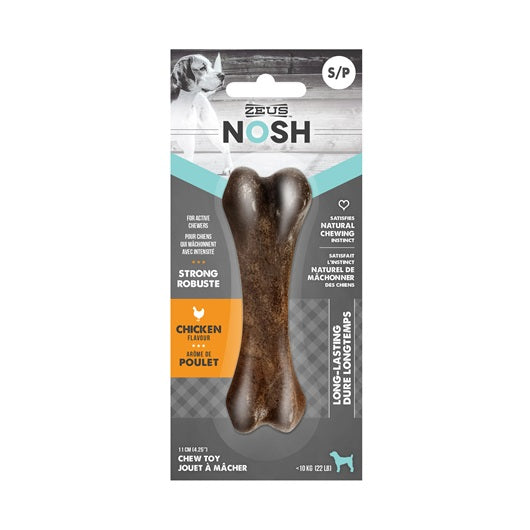 Zeus NOSH STRONG Chew Bone - Chicken Flavor - Exotic Wings and Pet Things