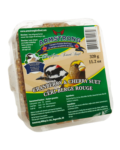 Armstrong Royal Jubilee Cranberry & Cherry Suet 320 g - Exotic Wings and Pet Things
