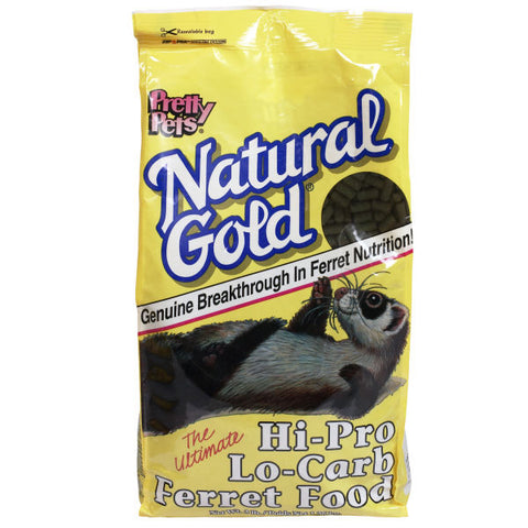 Pretty Pets Natural Gold Hi-Pro/Low-Carb Ferret Diet 3 lb - Exotic Wings and Pet Things