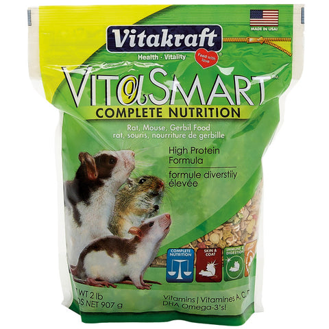 Vitakraft Vita-Smart Rat/Mouse/Gerbil Food 2.1 lb - Exotic Wings and Pet Things