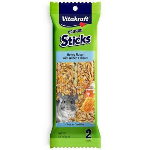 Vitakraft Honey Crunch Sticks w Calcium for Chinchillas 2 pc - Exotic Wings and Pet Things