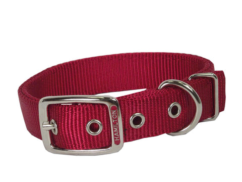 Hamilton Double Nylon Collar Standard Colours 1""