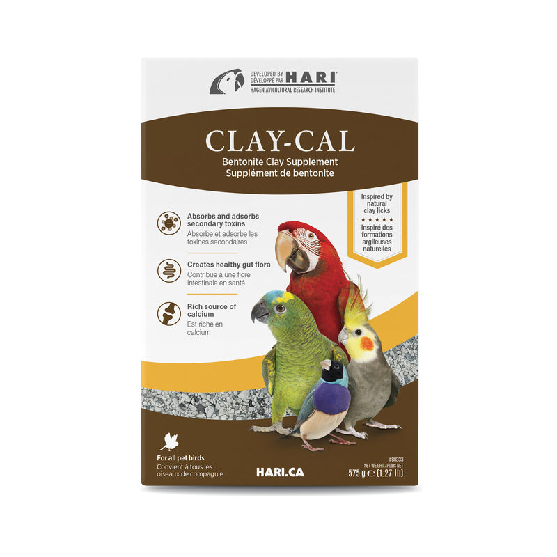 HARI Clay-Cal Bentonite Clay Supplement for Birds - 575g (1.27 lbs) - Exotic Wings and Pet Things