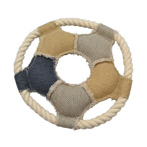 Amazing Canvas Star Ring 7.25 inches Dog Toy