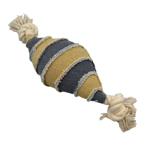 Amazing Canvas Spiral Foot Ball Dog Toy