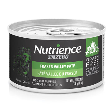Nutrience Grain Free Subzero Pâté for Puppies Can Food- Fraser Valley - 170 g (6 oz) x 24