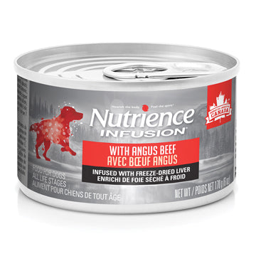 Nutrience Infusion Pâté with Angus Beef Dog Can Food- 170 g (6 oz) x 24