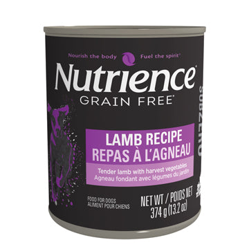 Nutrience Subzero Wet Food for Dogs - Lamb Recipe Dog Food Can - 374 g x 12