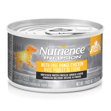 Nutrience Infusion Pâté with Free Range Chicken Dog Can Food- 170 g (6 oz) x 24