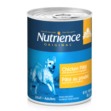 Nutrience Original Healthy Adult - Chicken Pâté with Brown Rice & Vegetables - 369 g (13 oz) x 12 Case Price