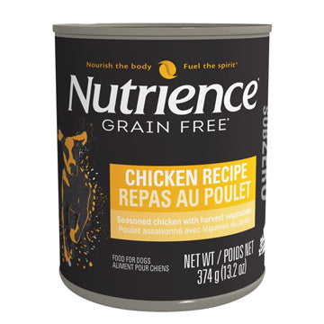 Nutrience Subzero Wet Food for Dogs - Chicken Recipe Dog Food Can - 374 g x 12