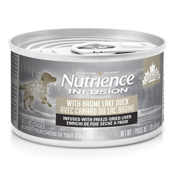 Nutrience Infusion Pâté with Brome Lake Duck Dog Can Food- 170 g (6 oz) x 24 Case Price