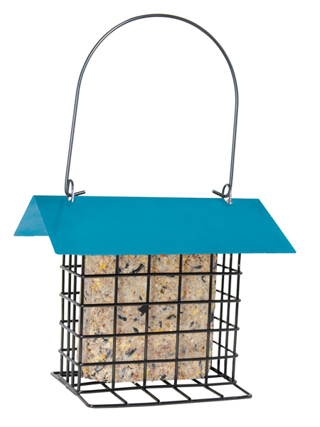 Pinebush Suet Cake Feeder with Roof - Exotic Wings and Pet Things