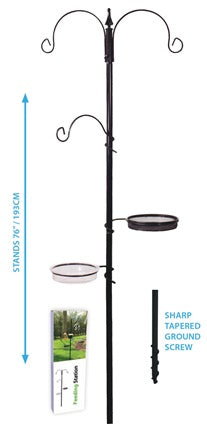 "Pinebush 76"" Feeding Station - Exotic Wings and Pet Things"