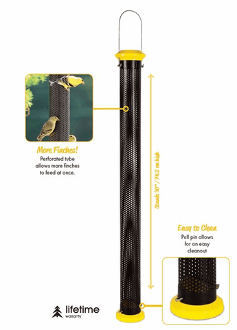 "Pinebush 30"" Mesh Tube Nyjer Feeder - Exotic Wings and Pet Things"