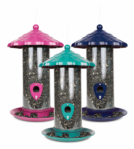 Pinebush High Capacity Decorative Seed Feeder - Exotic Wings and Pet Things