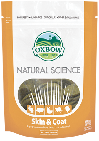 Oxbow Natural Science Skin & Coat Supplement 60 ct - Exotic Wings and Pet Things