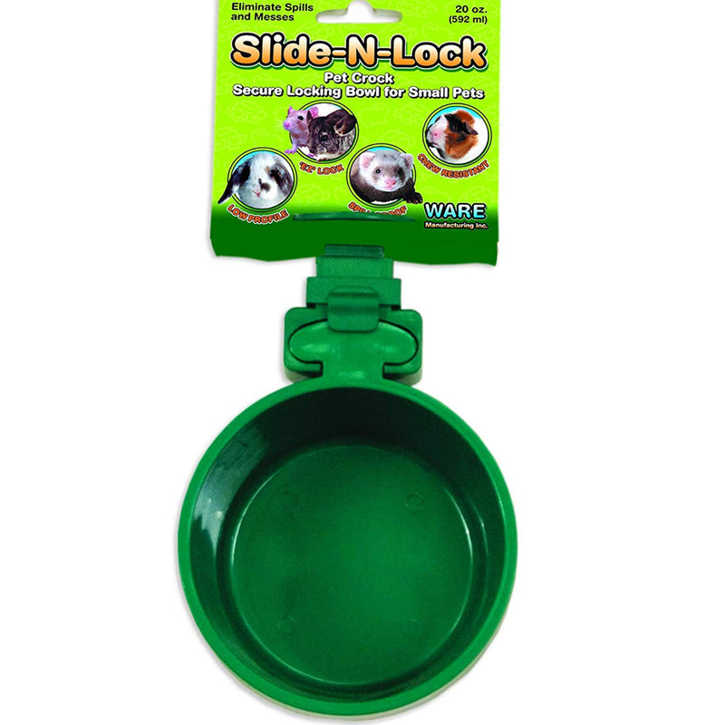 Ware Slide-N-Lock Pet Crock - Exotic Wings and Pet Things