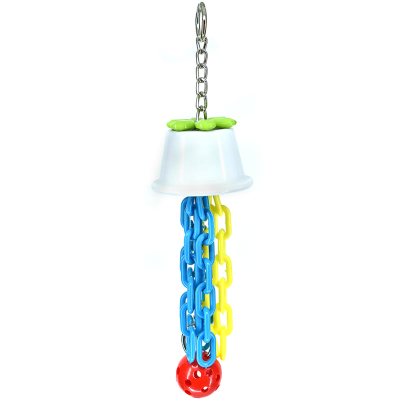 Billy Bird Plastic Cup N Chain Bird Toy - 266 - Exotic Wings and Pet Things
