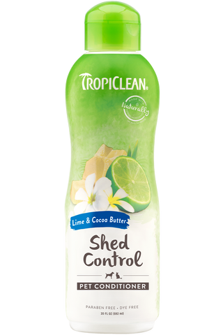 TropiClean Lime & Cocoa Butter Deshedding Conditioner 20 oz - Exotic Wings and Pet Things