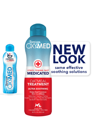 TropiClean Oxymed Medicated Oatmeal Treatment 20 oz - Exotic Wings and Pet Things