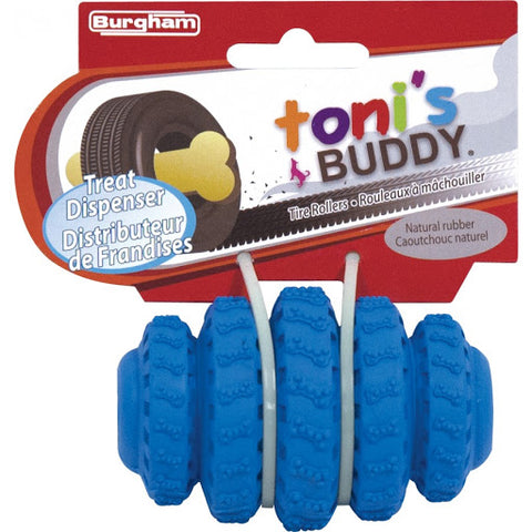 Toni's Buddy Tire Roller Treat Holder 4""