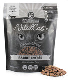 Vital Essentials Rabbit Mini Nibs Freeze-Dried Grain Free Cat & Kitten Food 12 oz