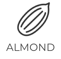 defatted almonds